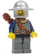 cas345G Undead- Knecht 12, zilveren helm met brede rand, pijlhouder gebruikt loc