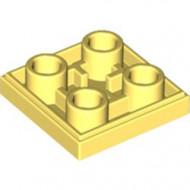 11203-103 Tegel 2x2 omgekeerd geel, lichthelder NIEUW *1L145