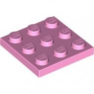 11212-104 Platte plaat 3x3 roze, helder NIEUW *5K0000