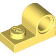 11458-103 Plaat 1x2 met pingat bovenop geel, lichthelder NIEUW *1L318