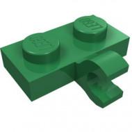 11476-6 Platte plaat 1x2 met horizontale clip LANGE einde groen NIEUW *1L0000