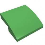 15068-36G Dakpan rond 2x2x2/3 geen noppen afgerond groen, helder gebruikt *1L278