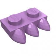 15208-157 Platte plaat 1x2 met drie tanden lavender, midden NIEUW *1L292