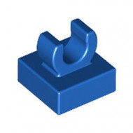 15712-7 Tegel 1x1 met clip bovenop afgeronde hoeken blauw NIEUW *1L288/4