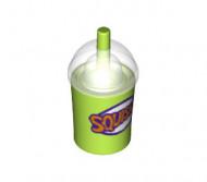 20398c01-34 Meeneembeker met rietje en transparante deksel SQUISHEE lime NIEUW *0L0000
