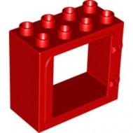 2332-5G Deurframe vlak met 2 clips rood gebruikt *