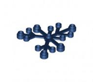 2417-63 Bladen 5x6 blauw, donker NIEUW loc