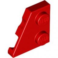 24299-5 Wig plaat 2x2 links rood NIEUW *1L221+2