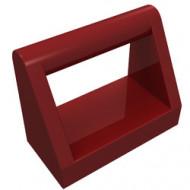 2432-59 Tegel 1x2 met hendel bovenop rood, donker NIEUW *1L321