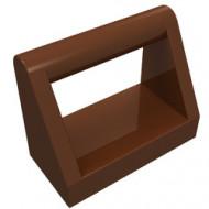 2432-88 Tegel 1x2 met hendel bovenop bruin, roodachtig NIEUW *1L0000