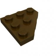 2450-120 Platte plaat 3x3 afgekapte hoek bruin, donker NIEUW *