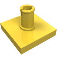 2460-3 Tegel 2x2 met pin geel NIEUW *1L0000