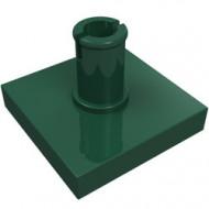 2460-80 Tegel 2x2 met pin groen, donker NIEUW *1L0000