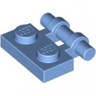 2540-42 Platte plaat 1x2 met OPEN hendel blauw, midden NIEUW *1L292/8