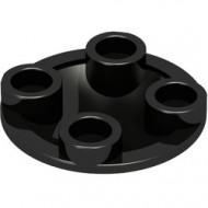 2654-11G Platte plaat 2x2 rond afgeronde bodem zwart gebruikt *1L0000