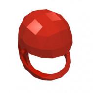 2715-5G Technic, Helm voor GROTE technic figuren (zonder vizier) rood gebruikt *0D000