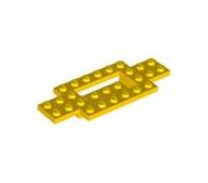 30029-3G Bodemplaat 10x4x2/3 gladde onderkant geel gebruikt *3D0000
