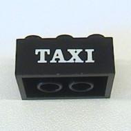 3002oldpb08-11G Steen 2x3 TAXI schreefletters zwart gebruikt *0K0000