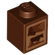 3005pb024-88 Pak chocolademelk (Friends) bruin, roodachtig NIEUW *0M0000