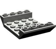 30283-10 Omgekeerde dakpan 45 graden 4x6 dubbel met 4x4 uitsnede donker, grijs (klassiek) NIEUW *1B000