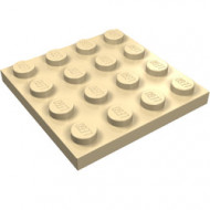 3031-2 Platte plaat 4x4 crème NIEUW *5K0000