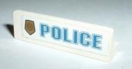 30413pb002L-1G Paneel 1x4 Embleem+POLICE wit gebruikt *0D0000