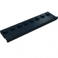 30586-11 Platte plaat 2x8 met deurrail (breed) zwart NIEUW *1L291/7