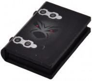 33009px3-11G Boek met hengsels en geestgezichjt Zwart gebruikt loc
