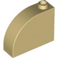 33243-2 Steen, 1x3x2 ronde top 90 graden massief crème NIEUW *1L112
