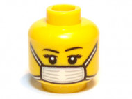 3626cpb0657-3 H3-13 Vrouw met mondkapje geel NIEUW loc