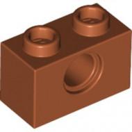 3700-68 Technic, steen 1x2 met gat (loc 10-20) oranje, donker NIEUW *1L000