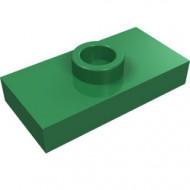 3794-6 Platte plaat 1x2 met 1 nop (loc 01-5) ZIE OOK 15573 groen NIEUW *1L233/11