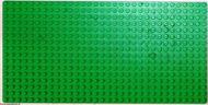 3857-6G Basisplaat 16x32 (geen nopgaten onder) groen gebruikt *5T000