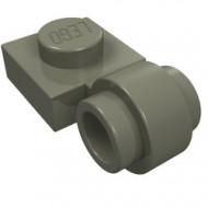 4081b-10 Platte plaat 1x1 met gesloten clip (dikke ring) donker, grijs (klassiek) NIEUW *1L289/5