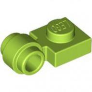 4081b-34 Platte plaat 1x1 met gesloten clip (dikke ring) lime NIEUW *1L289/5