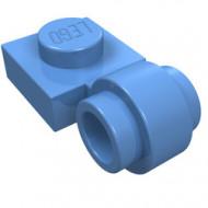 4081b-42G Platte plaat 1x1 met gesloten clip (dikke ring) blauw, midden gebruikt *1L187/1