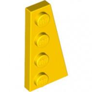 41769-3G Wig plaat 4x2 rechts geel gebruikt *1L223+4