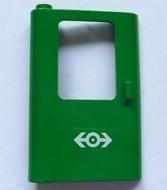4181pb032-6G Trein, Deur 1x4x5 links met treinlogo (wit) groen gebruikt *1D0000