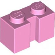 4216-104 Steen 1x2 met sleuf roze, helder NIEUW *1L2-15