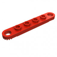 4262-5 Technic, Plaat 1x6 met gaten rood NIEUW *0D012
