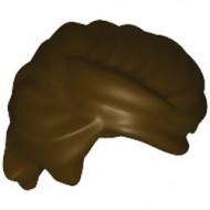 43753-120 Haren- man naar achteren gekamd gekruld bruin, donker NIEUW *0L0000