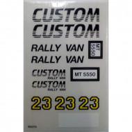 5550stk01 STICKER Custom Rally Van NIEUW *0S0000