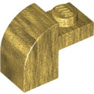 6091-115 Steen 2x1 met afgeronde kop en nop goud, parel NIEUW *1L0000