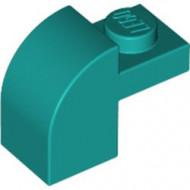 6091-39 Steen 2x1 met afgeronde kop en nop turquoise, donker NIEUW *1L0000