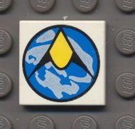 3068bp10-1G Tegel 2x2 Exploriens logo Wit gebruikt loc