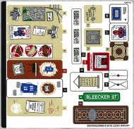 76108stk02 STICKER 76108 The Sanctum Santorum Showdown sheet 2 NIEUW *0S0000