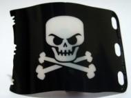 84622-11G Vlag 7x4 Piraten doodshoofd zwart gebruikt *5K000