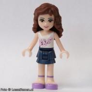 frnd062 Friends- Olivia, donkerblauwe rok, wit topje NIEUW loc