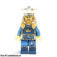 cas422G Fantasy Era - Kroonkoning, geen cape, bedrukte benen gebruikt loc