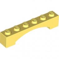 92950-103 Steen, boog 1x6x1 hoog VERHOOGDE BOOG geel, lichthelder NIEUW *1L000
